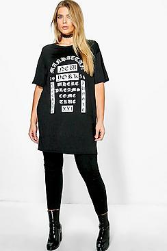 Camiseta Estampada Faye Plus