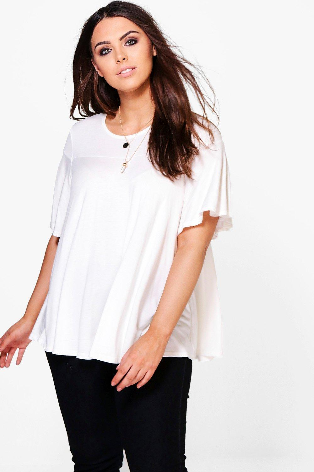 Plus Hayley Ruffle T Shirt