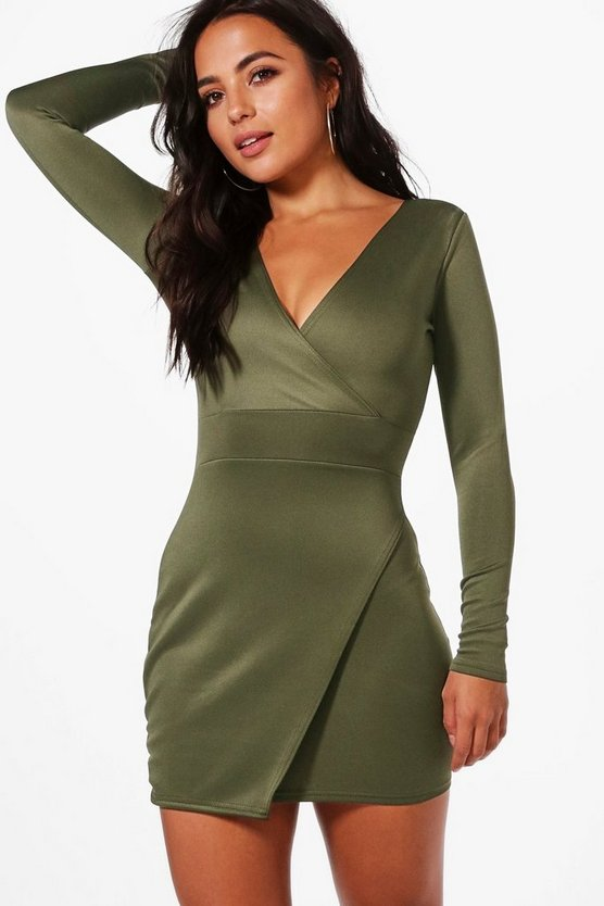 Petite Lucy Wrap Mini Dress