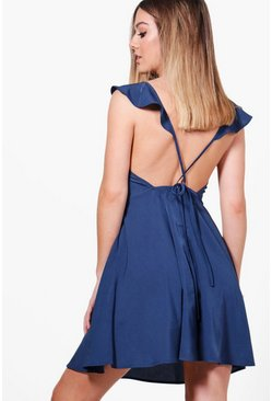 Petite Hope Open Back Skater Dress