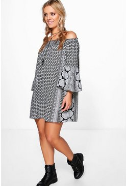 Plus Faye Mono Off The Shoulder Dress
