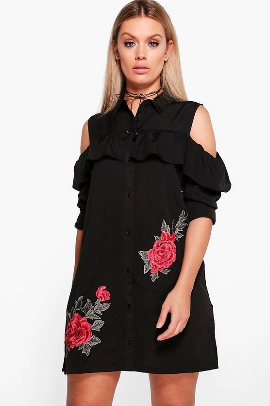 Plus Anna Ruffle Off The Shoulder Dress