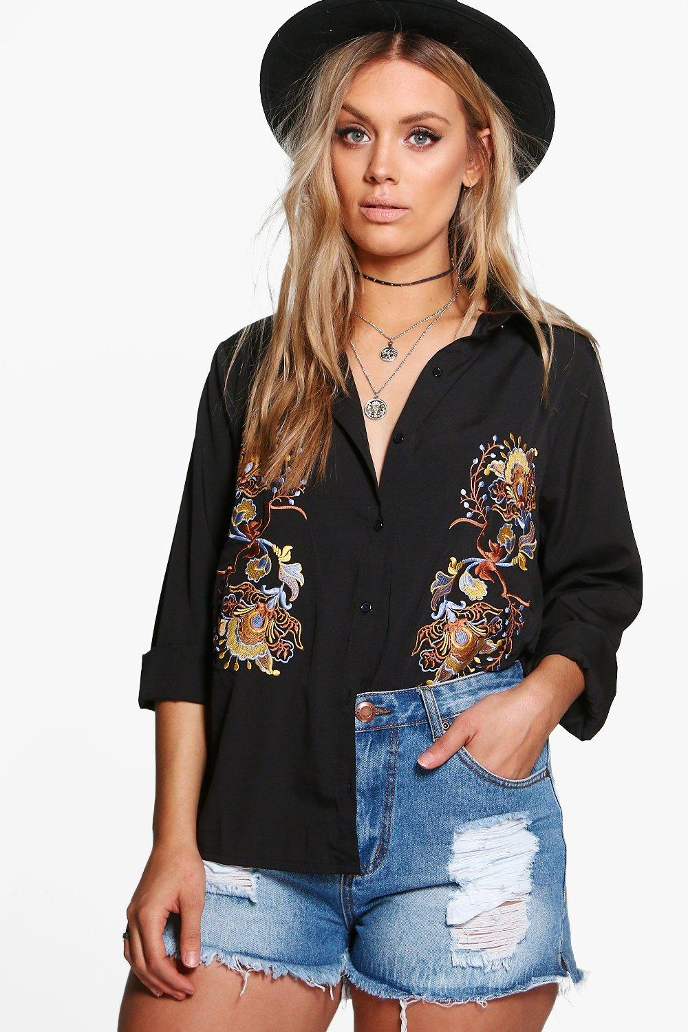 Plus Louise Embroidered Shirt