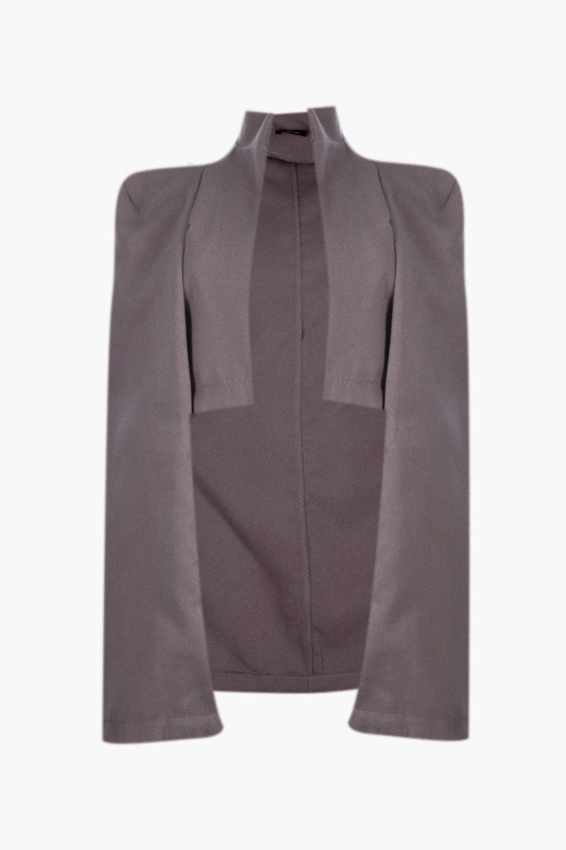 boohoo damen plus natalie cape mantel in wolloptik ebay. Black Bedroom Furniture Sets. Home Design Ideas