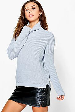 Petite Alice Roll Neck Soft Knit Jumper