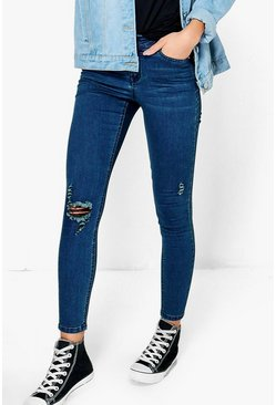 Petite Ellie Destroyed Knee Skinny Jean