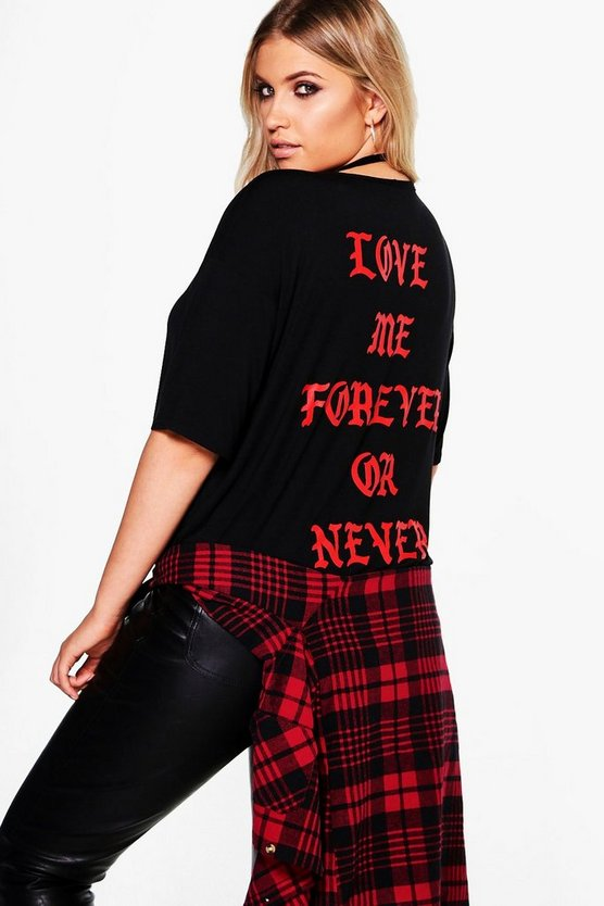 Plus Kathy Printed Back Tee