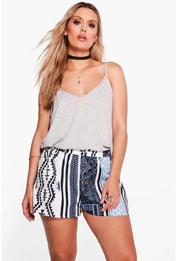 Plus Penelope Printed Woven Short