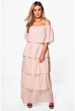 Plus Katrina Layer Maxi Dress