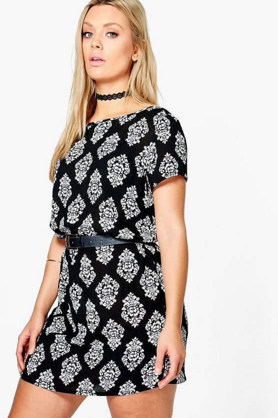 Plus Georgia Mono Shift Dress