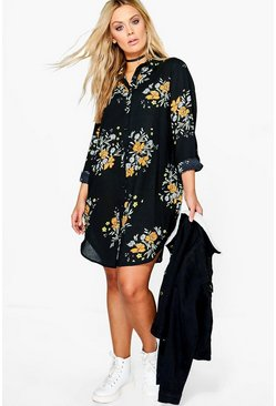 Plus Gia Floral Shirt Dress