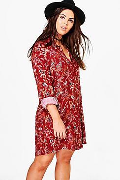 Plus Jenni Paisley Shirt Dress