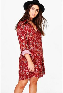 Plus Jenni Paisley Shirt Dress