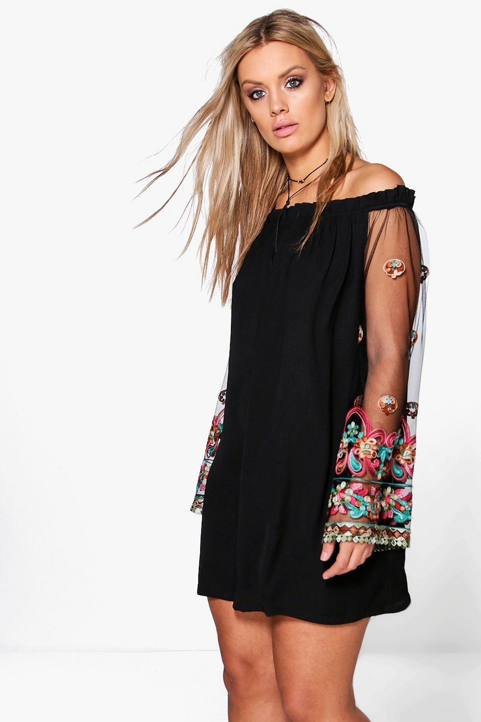 Boohoo Plus Embellished Off The Shoulder Dress Limited Edition Online Buy Cheap Top Quality 100% Authentic Cheap Online Huge Surprise Cheap Online Outlet Latest mg626wqU