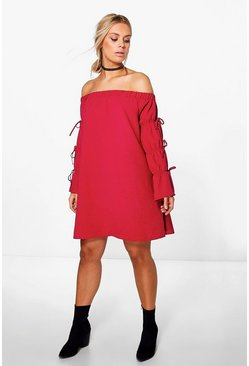 Plus Yasmin Off The Shoulder Dress
