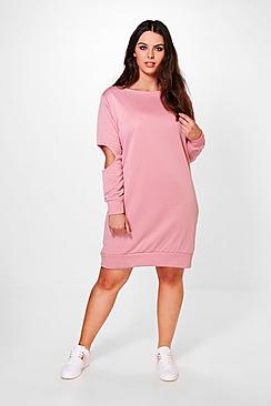 Plus Christina Cold Shoulder Sweat Dress