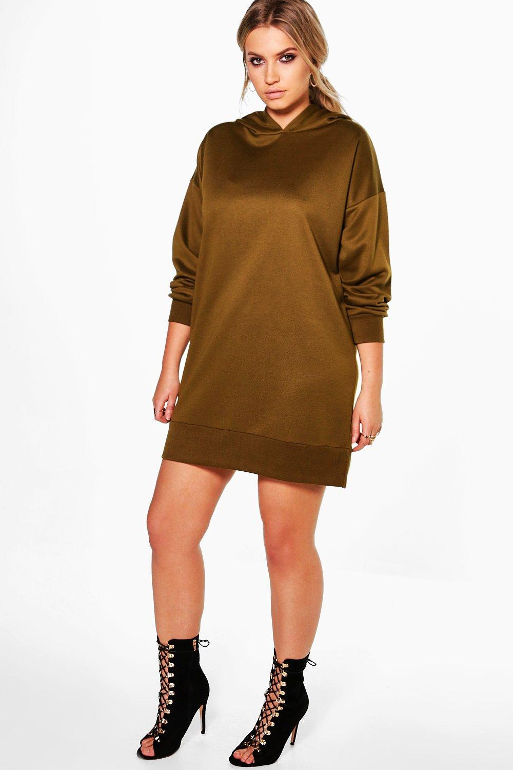 Plus Georgina Hooded Sweat Dress