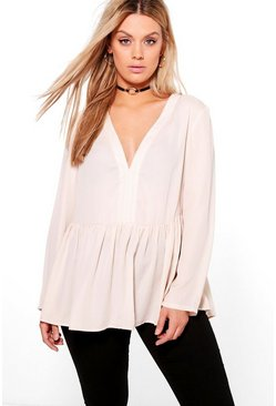 Plus Alicia Smock Blouse