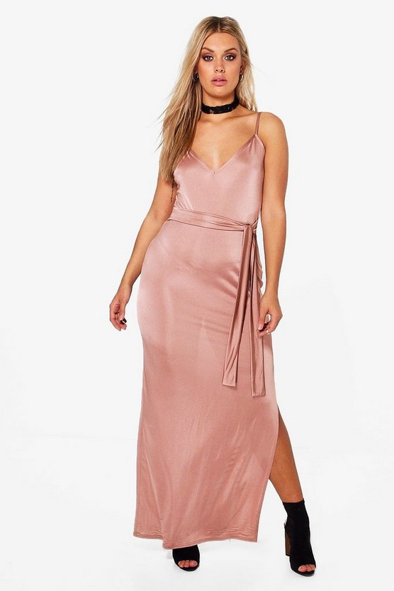 Plus Millie Slinky Side Split Maxi Dress
