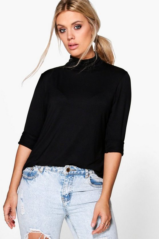 Plus Megan Long Sleeve Roll Neck