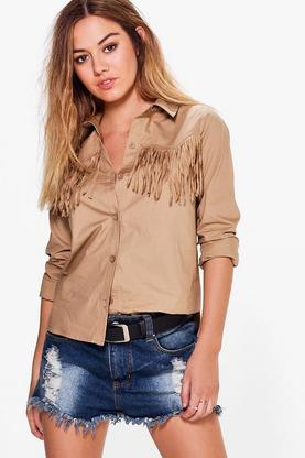 Petite Holly Tassel Shirt