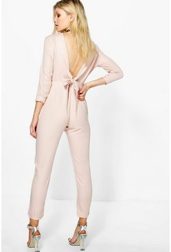 Petite Dana Tie Back Tailored Jumpsuit