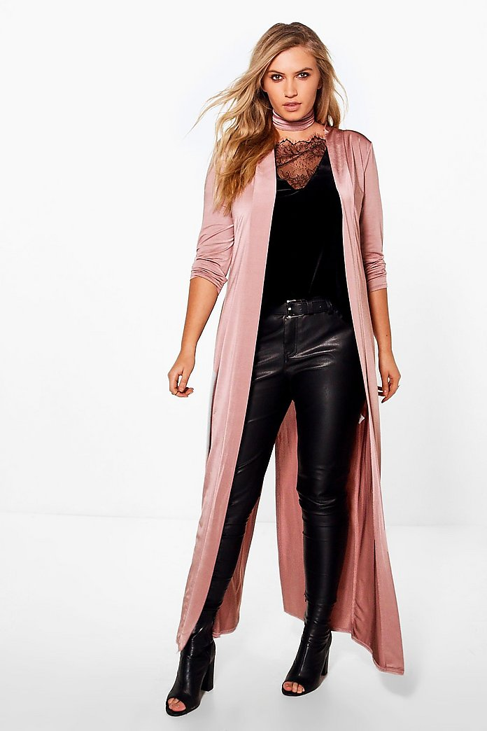 Plus Zoe Choker Detail Maxi Coat