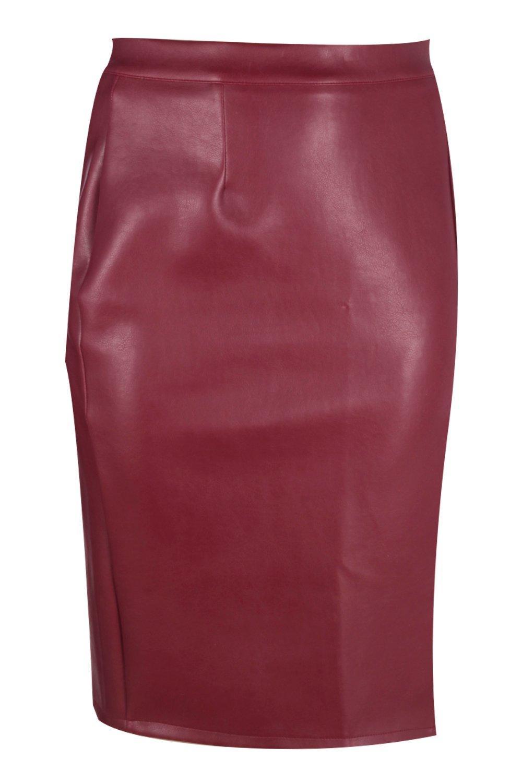 boohoo womens plus yas leather look midi skirt ebay