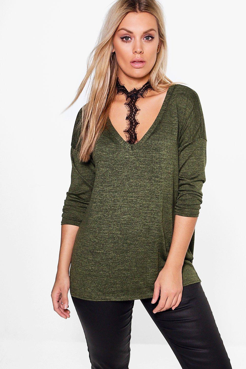 Plus Olivia Choker Detail Jumper