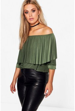 Plus Martina Slinky Double Layer Choker Top