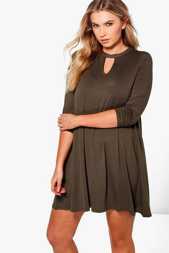 Plus Harley Keyhole Swing Dress
