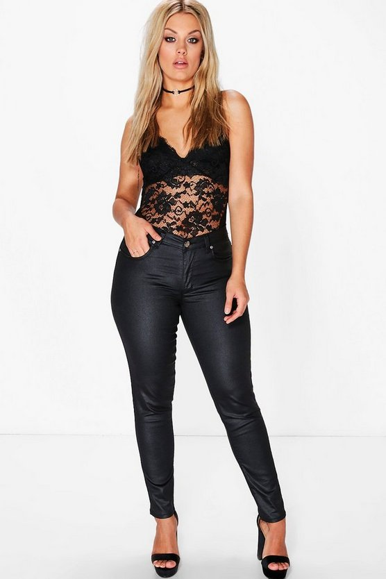 Plus Liv Coated Skinny Jean