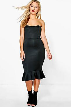 Plus Carey Premium Frill Hem Midi Dress