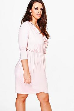 Plus Sophie Ruffle Front Wrap Dress