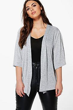 Plus Julia Shimmer Knitted Cardigan