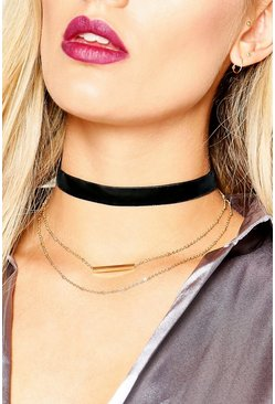 Plus Kelly Necklace Detail Choker