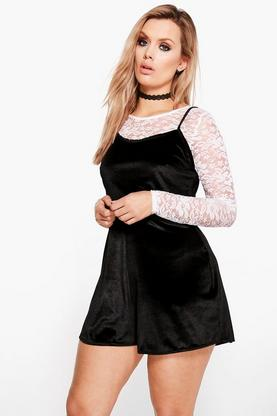 Plus Freya Lace 2 in 1 Playsuit