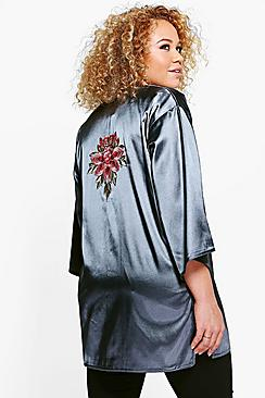 Plus Esme Satin Embroidered Jacket