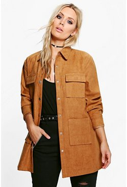 Plus Verity Suedette Utility Jacket