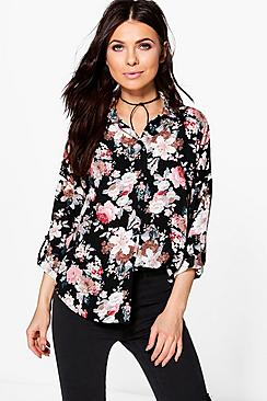 Petite Izzy Oversized Floral Shirt