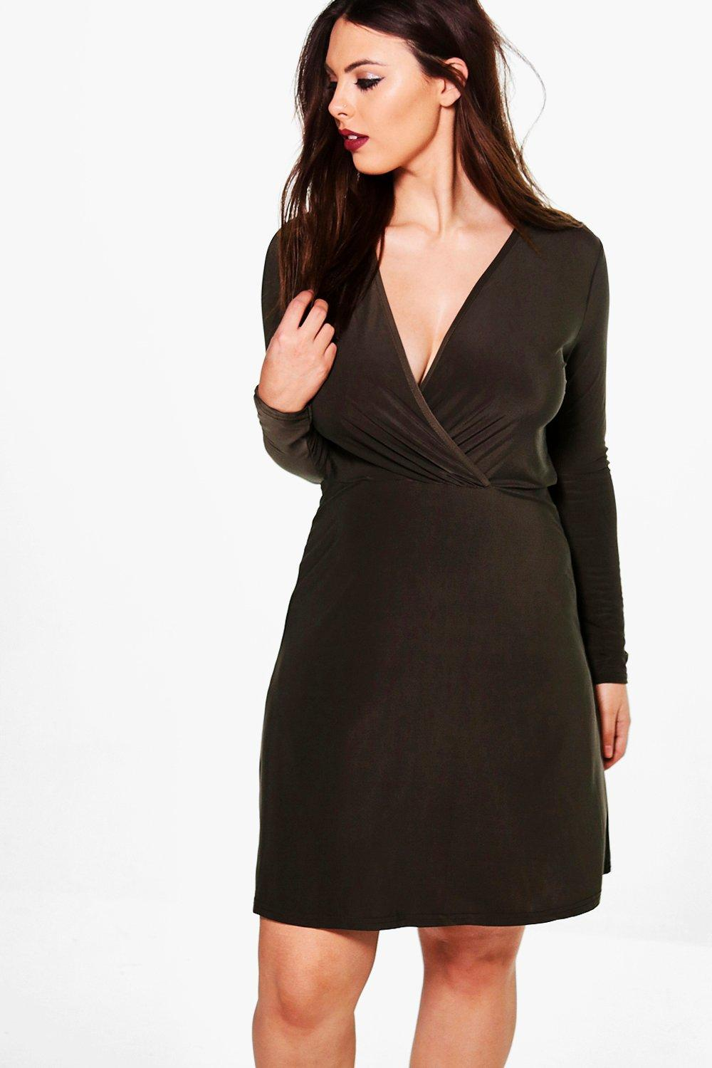 Plus Hollie Slinky Wrap Front Dress