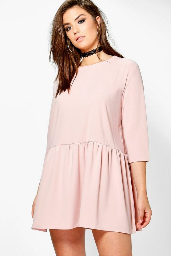 Plus Carrie Frill Bottom Shift Dress