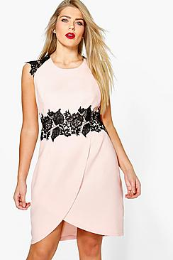 Plus Megan Boutique Crochet Wrap Dress