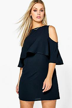 Plus Hollie Double Layer Woven Shift Dress