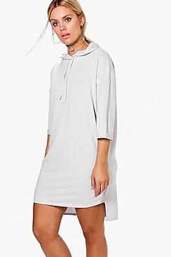 Plus Erin Hooded Soft Touch Sweat Dress