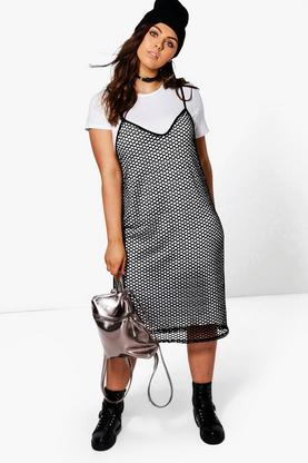 Plus Alice 2 in 1 Mesh Dress