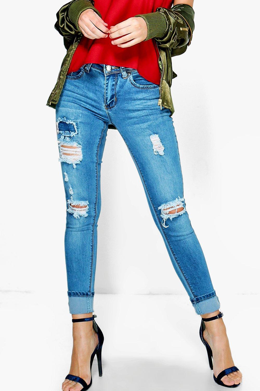 Petite Jeans   Shop Petite Skinny Jeans  boohoo
