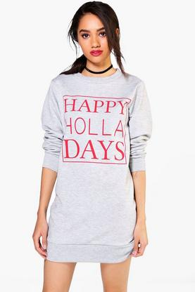 Petite Julia Christmas Novelty Sweat Dress