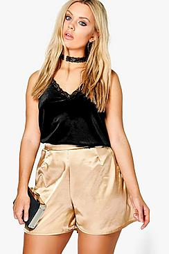 Plus Madison Satin Flippy Short