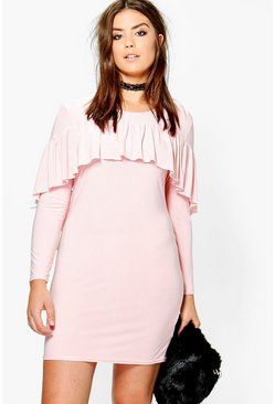 Plus Annabelle Ruffle Slinky Dress